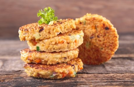 quinoa burgers with vegetables
